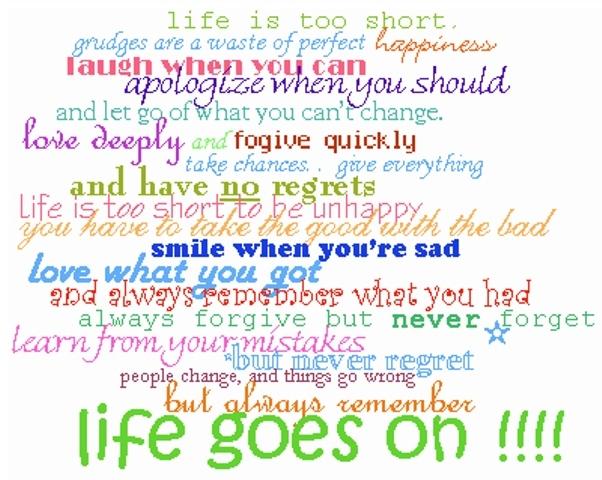 Life Goes On. نوشته شده توسط Mermaid در Thu 21 Oct 2010 ساعت 8:28 PM موضوع